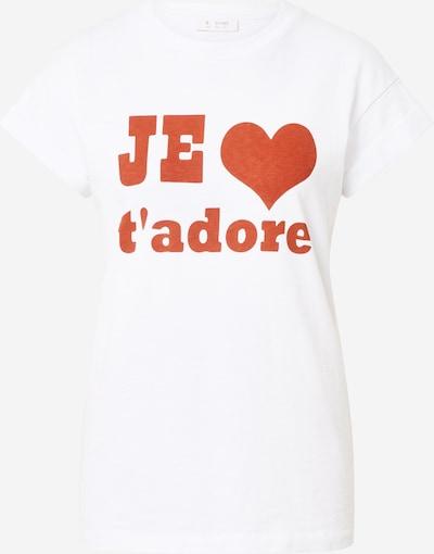 Rich & Royal T-Shirt 'Je t'adore' in hellrot / weiß, Produktansicht