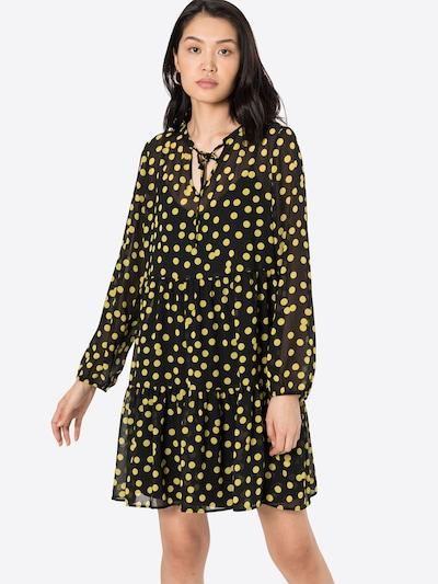 COMMA Kleid mit Volant in gelb / schwarz, Modelansicht