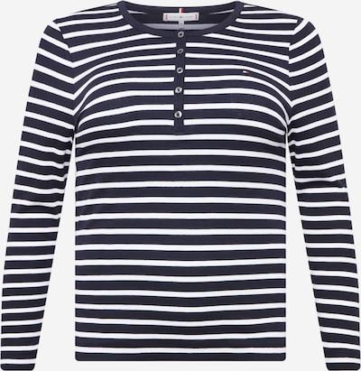 Tricou Tommy Hilfiger Curve pe albastru închis / alb, Vizualizare produs
