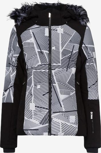 ICEPEAK Jacke 'Ellis' in grau / schwarz / weiß, Produktansicht