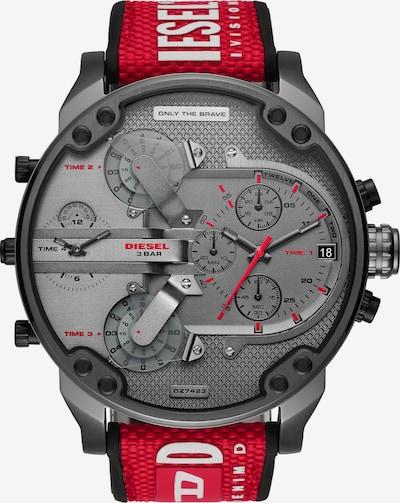 DIESEL Uhr in grau / rot, Produktansicht