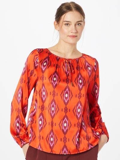 Grace Bluse in lila / rot / dunkelrot / weiß, Modelansicht