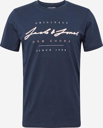 JACK & JONES Shirt 'MARIUS' in navy / pastellorange / weiß, Produktansicht