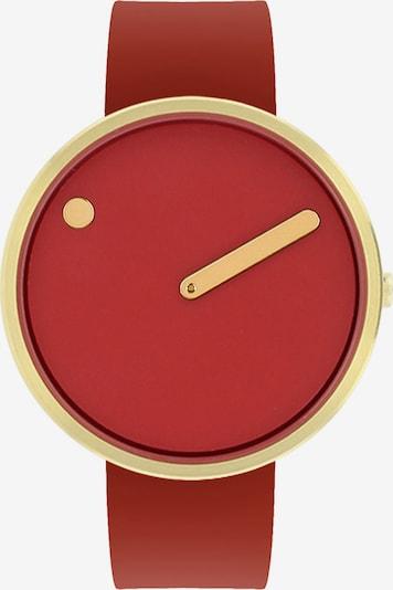 Picto Uhr in gold / rot, Produktansicht
