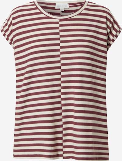 ARMEDANGELS T-Shirt 'JAARIN' in dunkelrot / weiß, Produktansicht