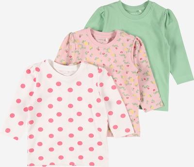 NAME IT Тениска 'MARIE' в зелено / корал / бледорозово / бяло, Преглед на продукта