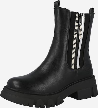 Dockers by Gerli Chelsea Boots en noir / blanc, Vue avec produit