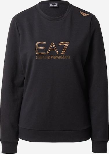 EA7 Emporio Armani Sweatshirt in Gold / Black, Item view