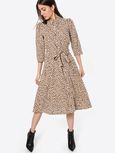 Dorothy Perkins Košulja haljina u boja devine dlake (camel) / crna / bijela, Prikaz modela