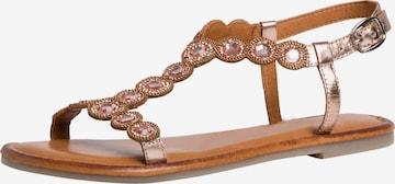 TAMARIS Strap Sandals in Bronze