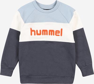 Hummel Sweatshirt in opal / dunkelblau / orange / weiß, Produktansicht