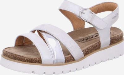 MOBILSergonomic Sandale 'Thina' in silber / weiß, Produktansicht
