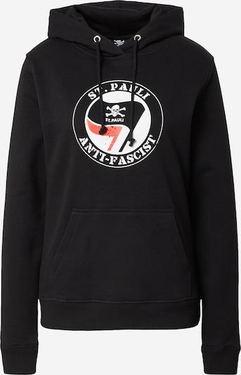 Bluză de molton 'Anti Fascist' FC St. Pauli pe roșu / negru / alb, Vizualizare produs