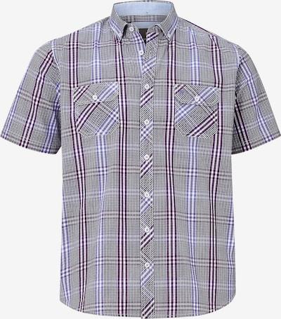 Jan Vanderstorm Overhemd 'Gerburg' in de kleur Lichtlila / Wijnrood / Zwart / Wit, Productweergave
