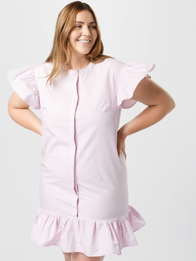 Rochie tip bluză GLAMOROUS CURVE pe roz, Vizualizare model