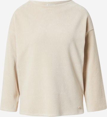 TOM TAILORSweater majica - bež boja
