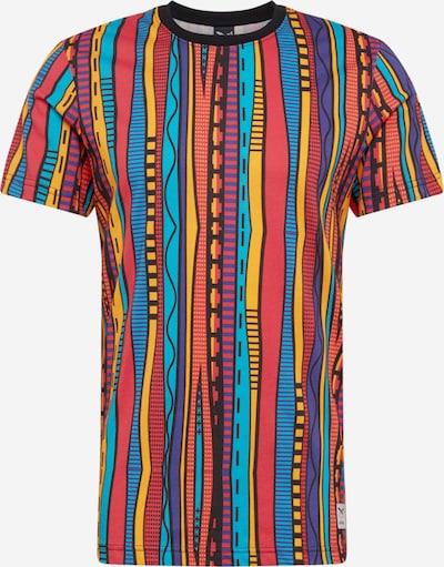 Iriedaily Shirt 'Theodore' in de kleur Blauw / Sinaasappel / Rood / Zwart, Productweergave