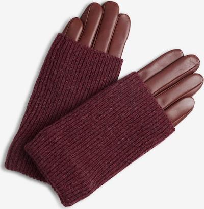 MARKBERG Fingerhandschuhe in burgunder, Produktansicht