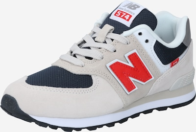 new balance Sneaker in nude / navy / hellgrau / hellrot / weiß, Produktansicht