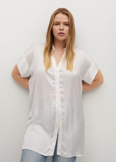 VIOLETA by Mango Bluse in weiß, Modelansicht