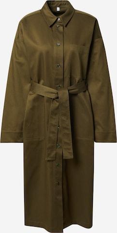 A LOT LESS Between-Seasons Coat 'Kiara' in Green
