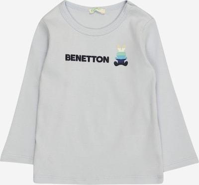 UNITED COLORS OF BENETTON Тениска в светлобежово / нейви синьо / светлосиво / светлозелено / черно, Преглед на продукта