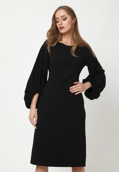 Madam-T Kleid 'ULANA' in schwarz, Modelansicht