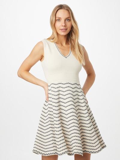 Twinset Úpletové šaty - námořnická modř / bílá, Model/ka