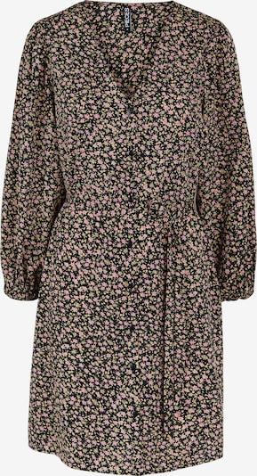 PIECES Kleid 'Krissie' in gelb / hellgrün / rosa / schwarz, Produktansicht
