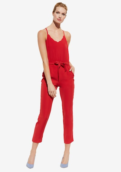 COMMA Jumpsuit in rot: Frontalansicht