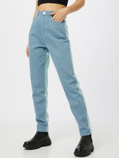 Missguided Jeans in blue denim / hellblau, Modelansicht