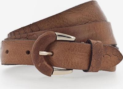 b.belt Handmade in Germany Riem 'Charleen' in de kleur Cognac: Vooraanzicht