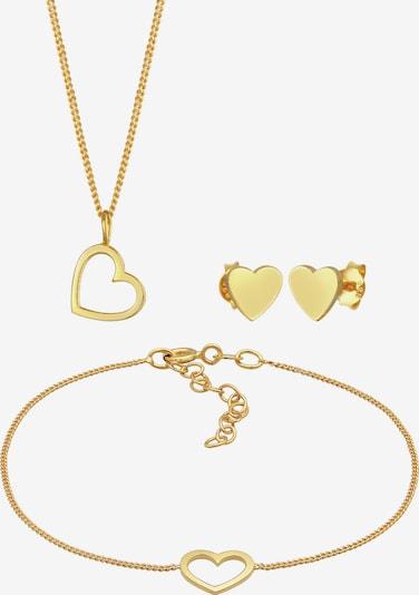 ELLI Schmuckset Herz, Schmuckset in gold, Produktansicht