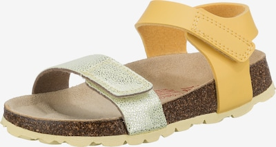 SUPERFIT Sandale in senf / silber, Produktansicht