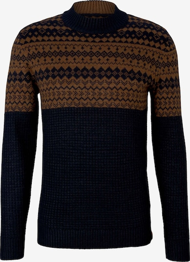 TOM TAILOR Sweater in marine blue / Brown, Item view