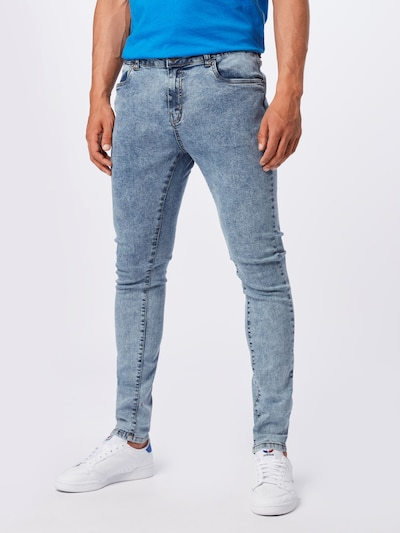 Urban Classics Plus Size Džíny - modrá džínovina, Model/ka