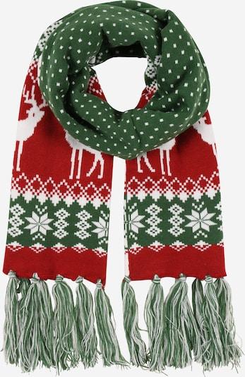 Urban Classics Schal in tanne / rot / weiß, Produktansicht