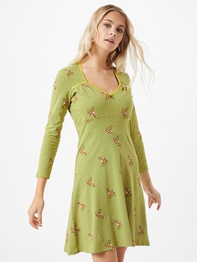 Blutsgeschwister Kleid in grün / mischfarben, Modelansicht