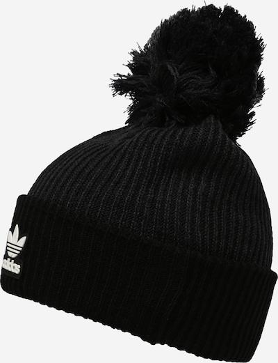 Megzta kepurė iš ADIDAS ORIGINALS, spalva – juoda / balta, Prekių apžvalga