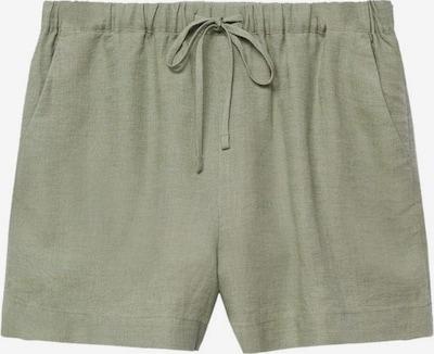 MANGO Spodnie 'linen' w kolorze oliwkowym, Podgląd produktu