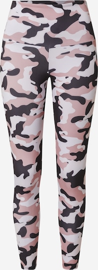 Onzie Pantalon de sport en aubergine / rose ancienne / blanc, Vue avec produit