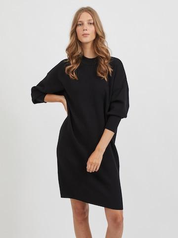 VILA Gebreide jurk in Zwart
