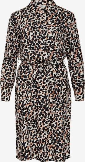 OBJECT Blousejurk 'Pamala' in de kleur Camel / Zwart / Wit, Productweergave
