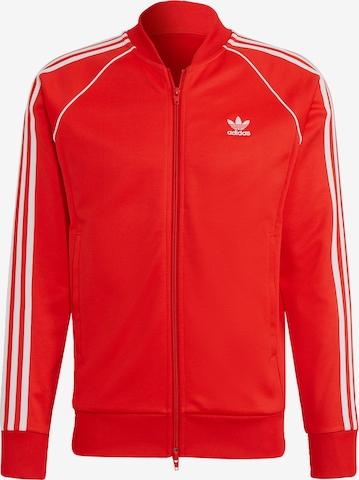 ADIDAS ORIGINALS Sweatjacke in Rot