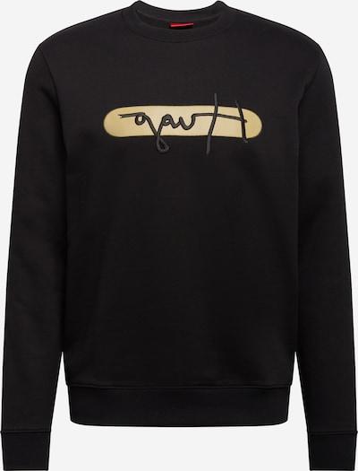 HUGO Majica 'Dicago' | zlato-rumena / črna barva, Prikaz izdelka