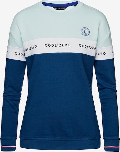 CODE-ZERO Sweater 2Tone Oversized Damen in blau, Produktansicht