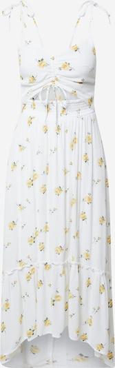 HOLLISTER Kleid in gelb / grasgrün / weiß, Produktansicht