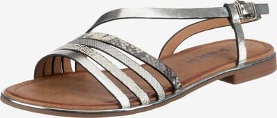 Taxi Shoes Riemchensandalen in silber, Produktansicht