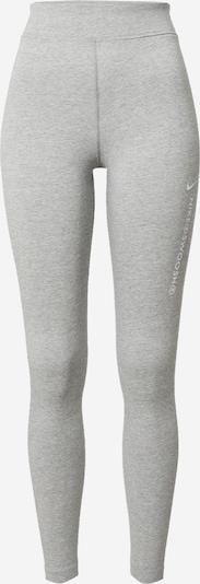 NIKE Športové nohavice 'Swoosh' - sivá melírovaná / biela, Produkt
