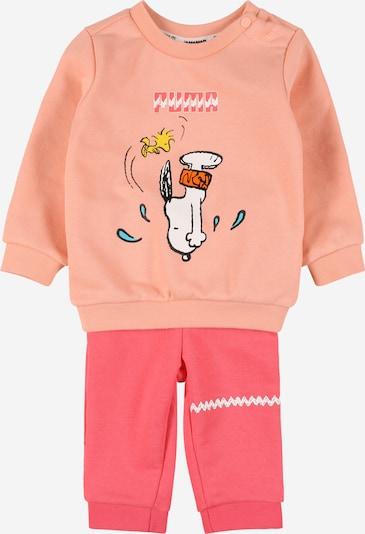 PUMA Joggingpak in de kleur Geel / Perzik / Pink / Zwart / Wit, Productweergave